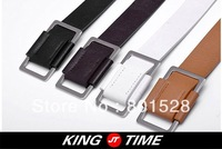 Free shipping! New style classical unisex PU belts leather belts solid belt all-match 4 colours, black white brown orange APD51