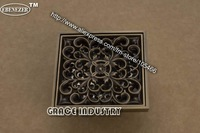 floor drain,Antique Brass Shower Drain Floor Waste Grate ,very nice,top quality,free shipping,promotion 10cm*10cm