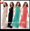 Free shipping Hot Sell Black Green  Red  Gray  New Women Bohenmia Pleated Wave Lace Strap Princess Chiffon long Maxi dress