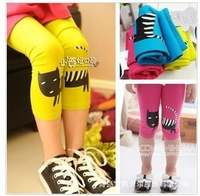 free shipping 2012 girls  leggins fit 2-7 yrs children cartoon  leggings 5 pieces / lot same color all size