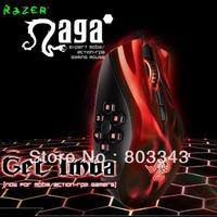 Original Razer Naga Hex Red Edition, 5600dpi Razer Precision 3.5G Laser Sensor, Oriignal & Brand new in BOX, Free shipping