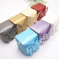 Butterfly  favor Wedding Candy Boxes party gifts packing paper chocolate packaging ,200pcs/lot factory wholesale Free shipping