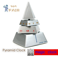 Creative clock Pyramid Clock magic cube clock(China (Mainland))