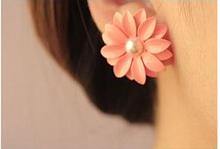 Hot 2015 Brand New Fashion Hot Selling Beautiful Cute Sweet Flower Pearl Earrings For Women