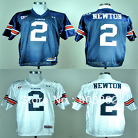 Ncaa Auburn Tigers #2 Cam Newton white/ blue college football jerseys adult/ youth bcs champions free shipping