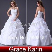 Free Shipping 1pcs/lot GK Taffeta Evening Prom Ball Gown Princess Wedding Dresses 2012 Bridal CL3109