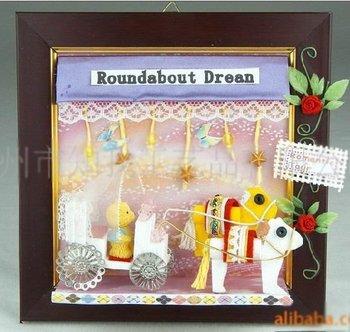 diy wooden photo frame,handmade craft for children