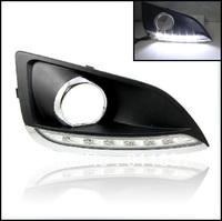 Free Shipping by EMS LED Fog Light daylight Hyundai IX35 DAY LIGHT LED CHROME COVER 2009-2012 High Quality LED Headlights DRL