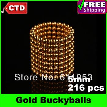 Gold 216pcs Diameter 5mm Neocube Magic Cube Magnetic Balls Buckyballs