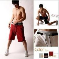 2014 Time-limited Casual Mid Cotton Drawstring Men Shorts Short Bermuda Men's Summer New Leisure Sports /trousers#5071