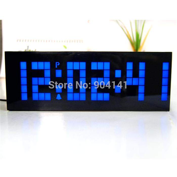 Blue Digital Wall Clock Free-shipping-2014-new-home- ...