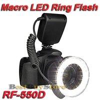 New RF-550D Macro O Ring light 48-LED Flash Light for 49 / 52 / 55 / 58 / 67 / 72 / 77mm Lens w / LCD, Free Shipping