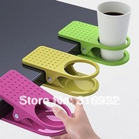 D1 New Arrival Office Table Desk Drink Coffee Cup Holder Clip Drinklip