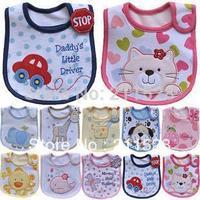 48 styles bibs for pick as one pleases * popular sales cotton baby bibs waterproof infant bibs 3-dimensional embroidery bibs