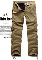 Free Shipping Hot selling Men's Haren pants ,high quality men's Sport cargo pants Multi Pocket Jeans camouflage pants men,40 42