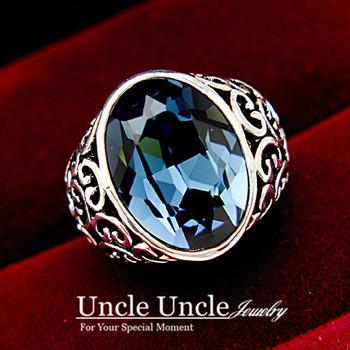 Fancy Design!!! 18K White Gold Plated Big Austrian Crystal Sculpture Retro Lady Finger Ring Wholesale