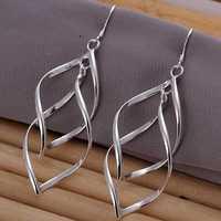 Hot Sale!!Free Shipping 925 Silver Earring,Fashion Sterling Silver Jewelry Double Plantain Earrings SMTE168