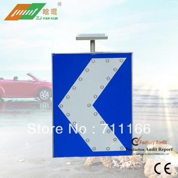 2013 Best Sale LED Solar Traffic Road Direction Sign
