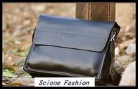 2014 New arrival dress men shoulder bag, leather messenger business bag Black/Brown Drop & Free shipping MB01