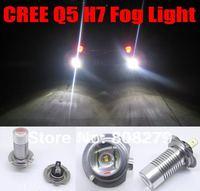 Pair / 2pcs CREE Q5 Xenon White H7 LED Driving Fog Light Foglight Bulbs 12v/24v