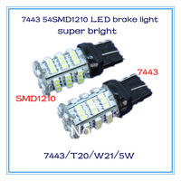 Free shipping 2013 new products led brake tail light t20 7443 w21/5w 54smd1210 super bright auto lamp accessories headlight DRL