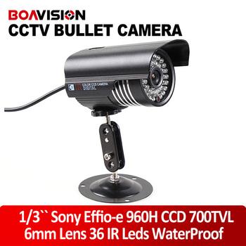 "1/3"" Sony CCD EFFIO-E 700TVL 6mm Lens Waterproof CCTV Security Camera 30m Night Vision Security Camera"