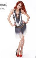 Hight Quality belly dance Costume Latin Ballroom dance Bra Top skirt dress 3 colors