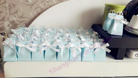 peppermint blue 60pcs Engagement Ring Wedding Favor Box, wedding candy bag TH021/A