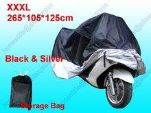 Wholesale 100pcs XXXL 265 105 125 cm Motorcycle Motorbike Waterproof UV Resistant Universal Cover Free shippiing(China (Mainland))