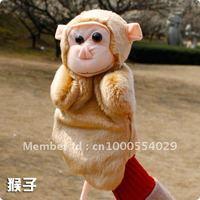 plush finger puppet toy The monkey large size finger puppet animal model hand puppet good helper for story telling