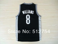 Free Shipping,#8 Deron Williams Rev 30 New Material Basketball jersey,Embroidery logos,Size 44-56