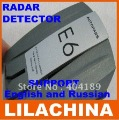 100% Brand new E6 Car Radar detector support English and Russian LCD display free shipping
