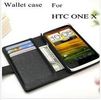 Leather case for HTC ONE X G23 Original Faddist Multi-Fonction Wallet case for S720e with 3 card holder + 1 Bill site + 8 colors
