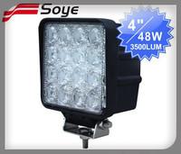 4'' 48w high power led lights off road, 4x4 universal headlights for trucks/atv//tractor, led light bar utv