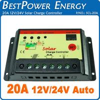 Free Shipping, 20A 12V/24V (Automatic) Micro PWM Solar Controller Solar Energy Controller