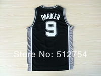 Free Shipping,#9 Tony Parker Rev 30 New Material Basketball jersey,Embroidery logos,Size 44-56
