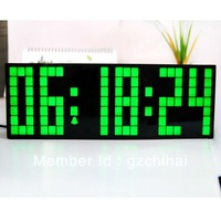 Free Shipping!Large  LED Wall Clocks New design Stylish  Home Decoration With Green Color