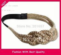 2014 NEW Gossip Girl Jennifer Design handmade knitting rope design Elastic  headband hair accessory 1pc