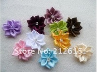 Wholesale silk flower accessories, hair/shoes/cloth decoration,mix color free shipping