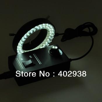 100-240V 60LED Adjustable Ring Light Illuminator Lamp for Stereo Zoom Microscope