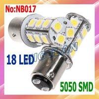 2pcs/lot  Free shipping Wholesale car stoplight Ba15s Bay15d 1156 18pcs SMD 5050 LED car stoplight