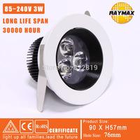 FREE SHIPPING 3W LED DOWN LIGHT / 3W SPOT LIGHT  220V 110V  GOOD QUALITY  SOPTLIGHT (RM-THMW0001)
