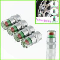 1 Set  Tire Pressure  New Car Tyre  Monitor Indicator Valve Stem Cap Sensor 3 Color Eye Alert wholesale Dropshipping