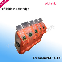 Refillable Cartridges for Canon IP4500 MP810 MP800  MP800R  MP830  MP600 MP610 PGI5 CLI8