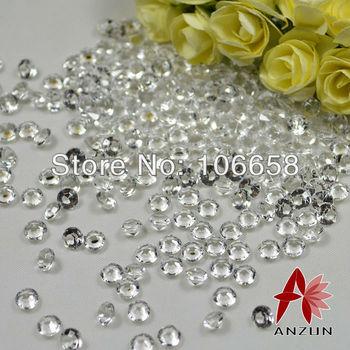 Free Shipping 10000pcs/lot 4.5mm Wedding Decoration Confetti Diamond Clear 1/3CT