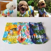 Dog Polo Shirt  Hawaiian Clorful Pet  Clothes 100% Cotton Spring Summer Apparel
