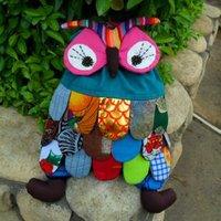 Hot On Sale  Handmade Cute Cartoon Baby Owl Bag  Children School Backpack  1PC Random Ship Child Shoulder Bags Unique Style