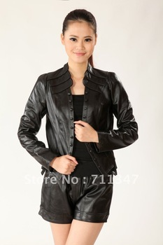 women's 2012 100% genuine leather jacket ex1208