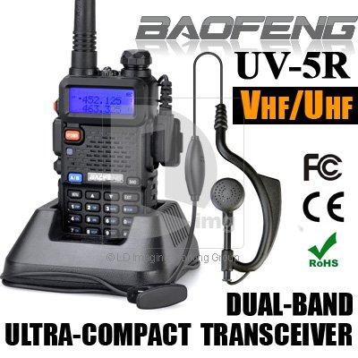 New BAOFENG UV-5R Dual Band Two Way Radio UV5R 128CH VHF 136-174MHz/UHF 400-480MHz Transceiver FM Radio Walkie Talkie 014089(China (M
