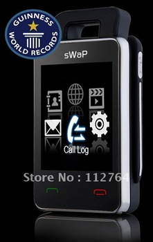 Lowest Price! 100% Original sWaP Nova EC107  The most Mini Watch Mobile Phone 1.76 Inch Screen - FM Radio,MP3, Bluetooth - Black
